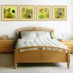 красивый необычный дизайн картины в спальню