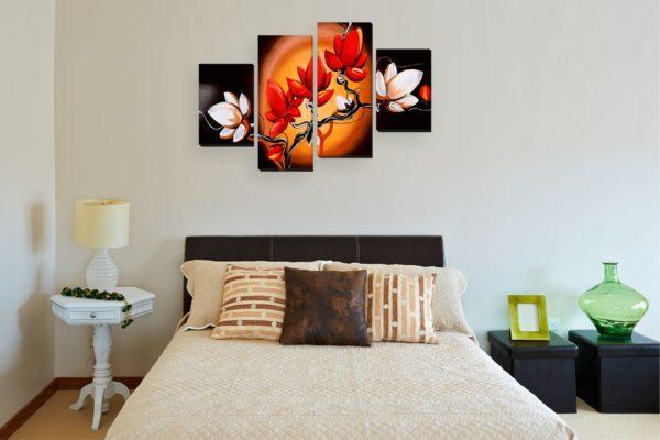 оригинальные картины в спальню