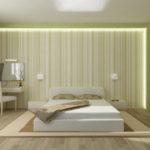 красивый необычный дизайн обоев в спальню