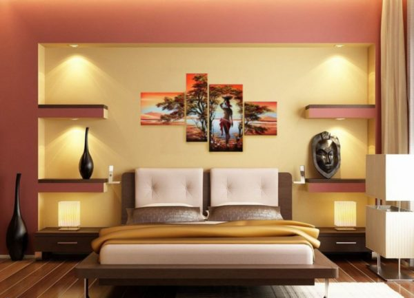 красивые картины для интерьера спальни