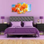 красивые картины в интерьере спальни