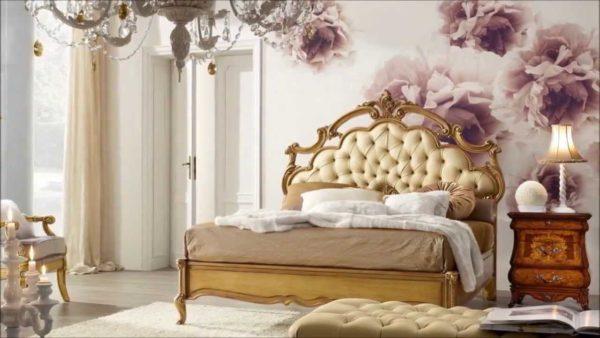 роскошный красивый дизайн мебели для спальни