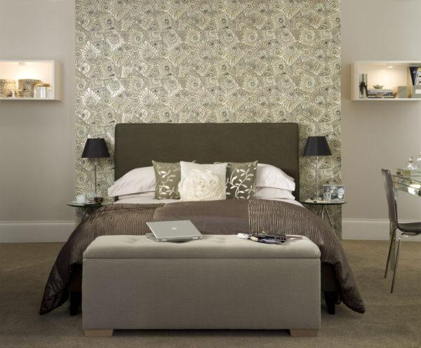 оригинальный дизайн спальни в 2017
