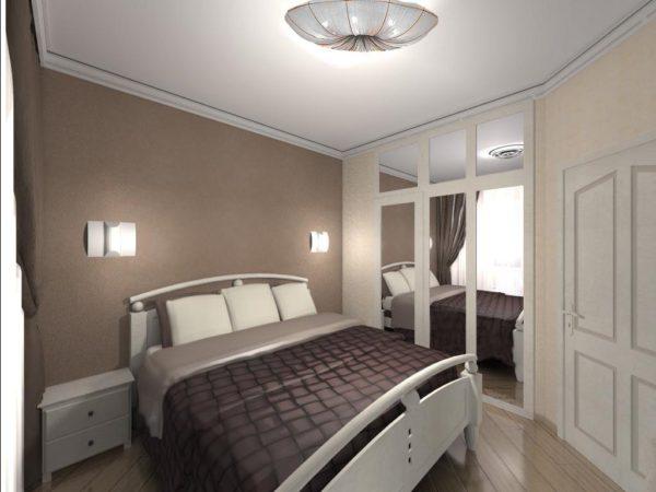 лаконичное оформление спальни