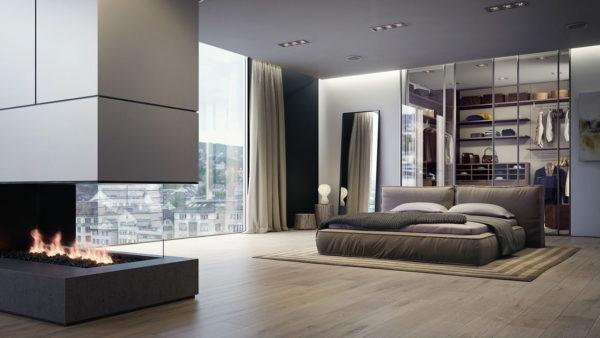 мебель в светлой спальне
