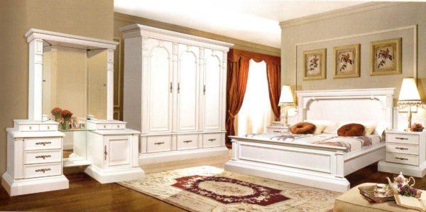 современный красивый дизайн мебели в спальне