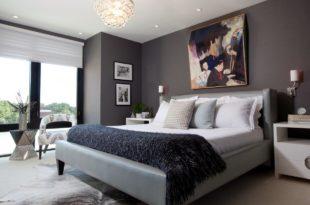 изящный дизайн спальни 2017