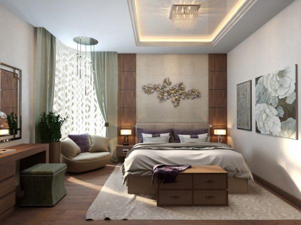 интерьер модной спальни