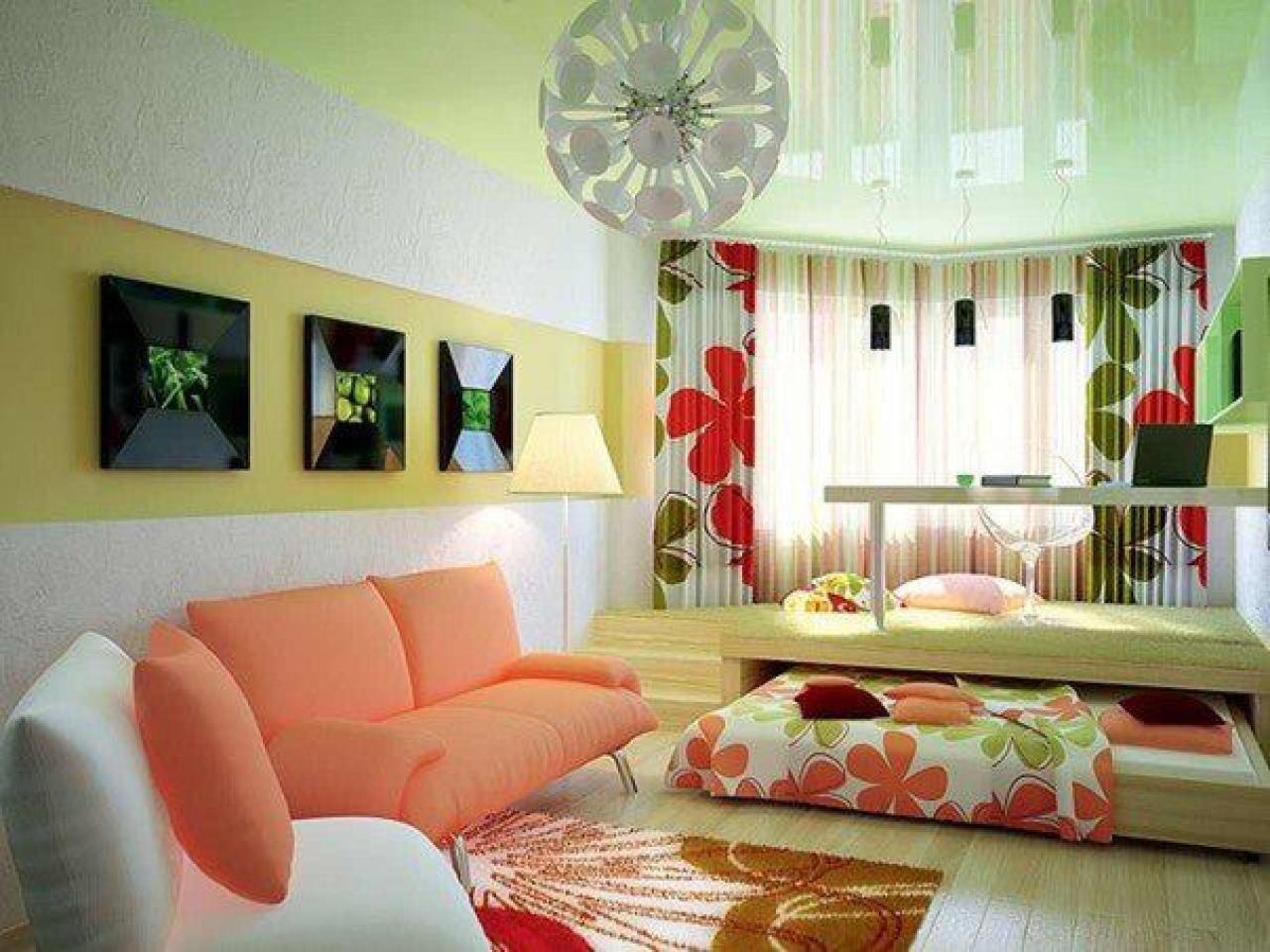 Идея ремонта спальня гостиная