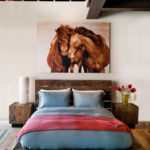 красивый дизайн картины для спальни