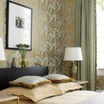 красивый дизайн обоев в спальне