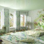 красивый дизайн обоев для спальни