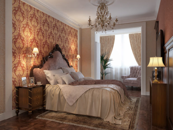 лаконичный интерьер спальни