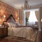 лаконичный интерьер спальни 2017