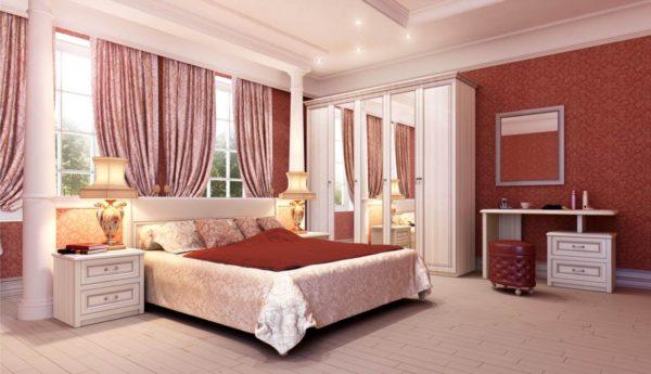модная мебель в интерьере спальни