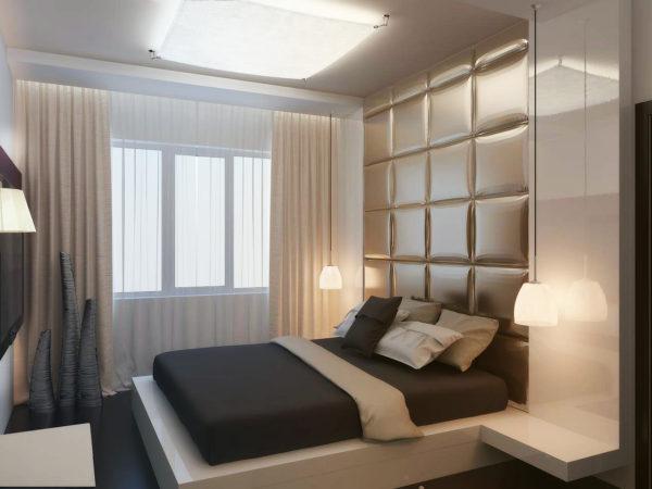 современный дизайн модной спальни