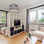 современный интерьер спальни и гостиной