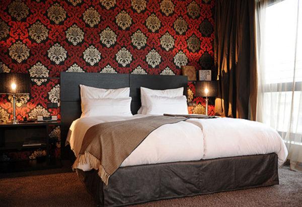 современный дизайн спальни и гостиной