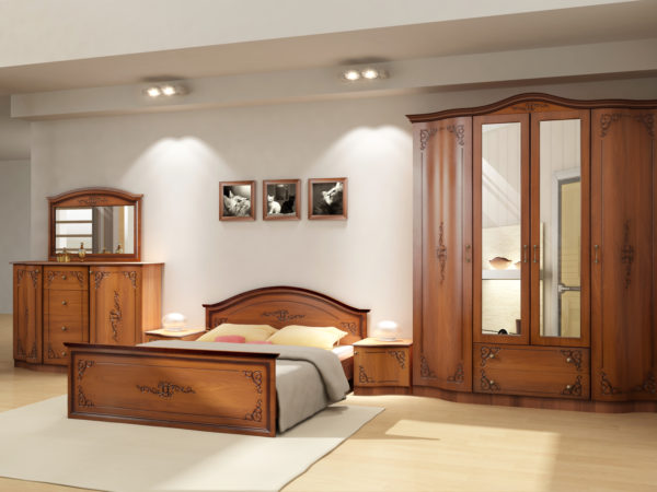 красивая необычная мебель в спальню