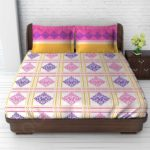 необычный дизайн покрывала на кровать для спальни