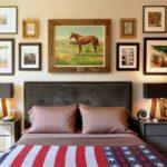 необычный дизайн картины для спальни