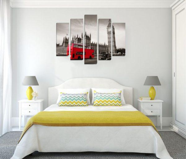 необычный дизайн картины в спальню