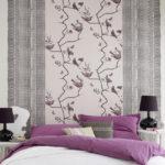 необычный дизайн обоев для спальни