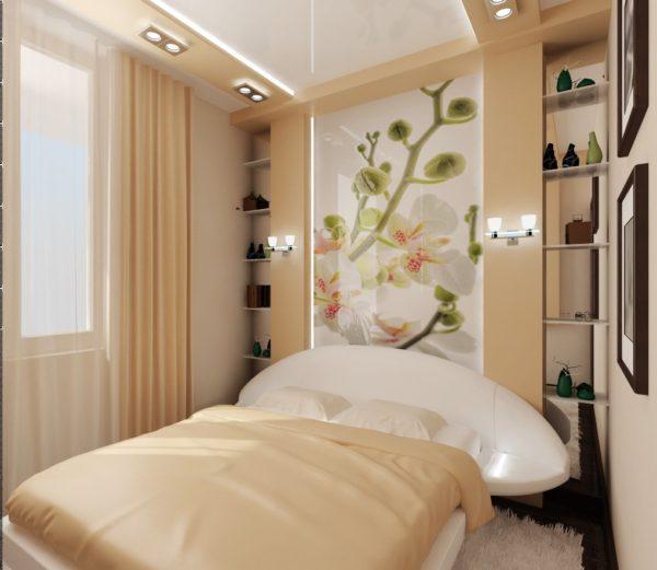 лаконичное оформление спальни в 2017