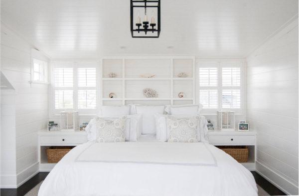 роскошный интерьер спальни 2017