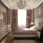 оригинальный интерьер спальни 2017