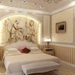 лаконичный интерьер спальни и гостиной