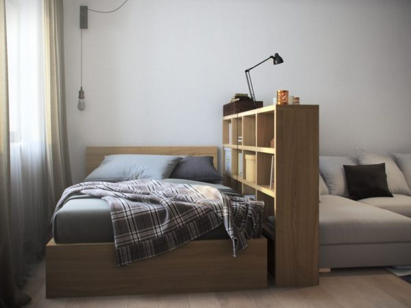 красивая спальня и гостиная