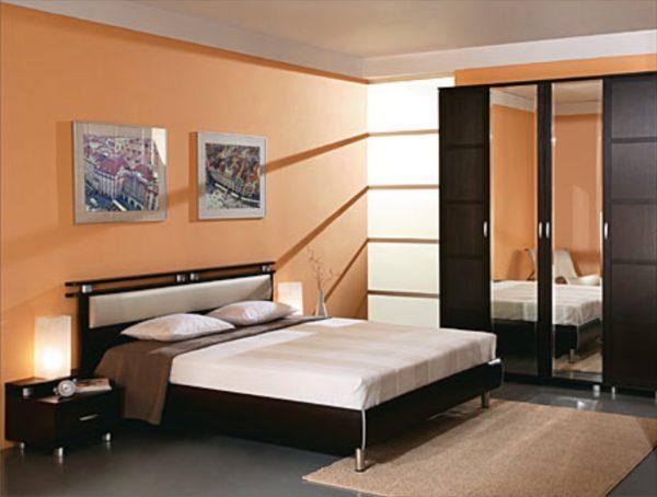 оригинальная мебель в интерьере спальни