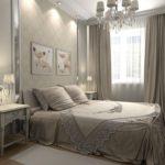 роскошный красивый дизайн обоев в спальне