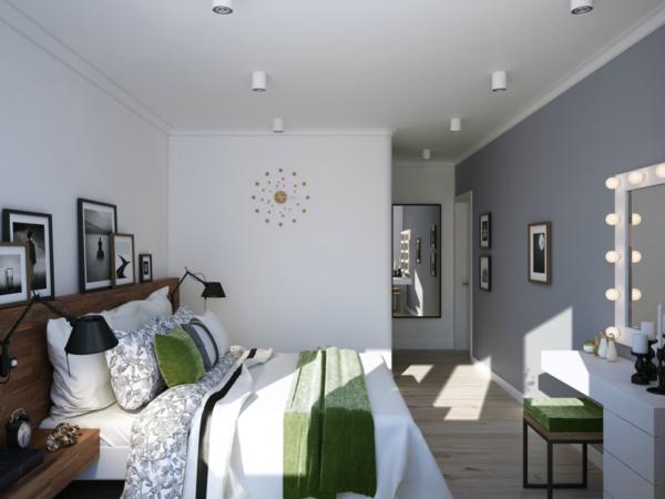 фото дизайна модной спальни 2017