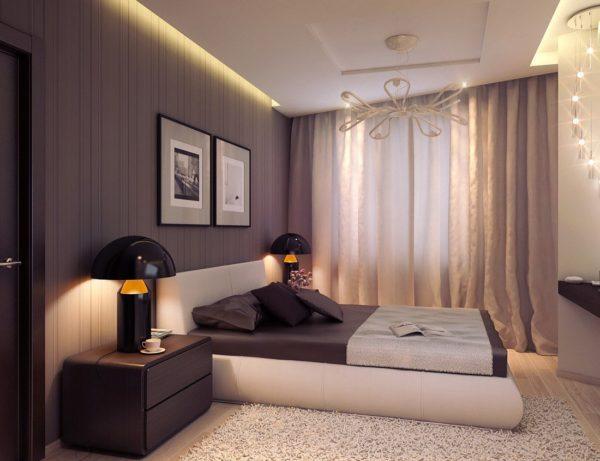 изящное оформление спальни