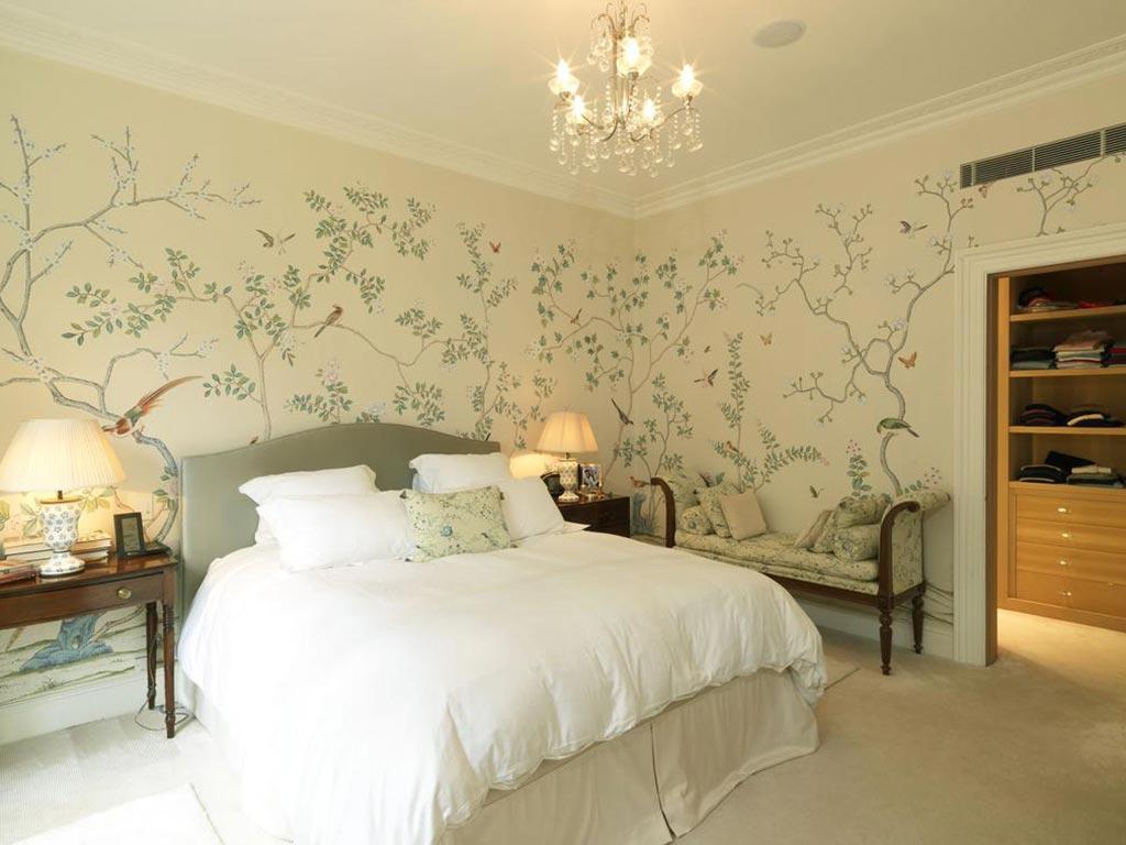 Идеи стен в спальне фото