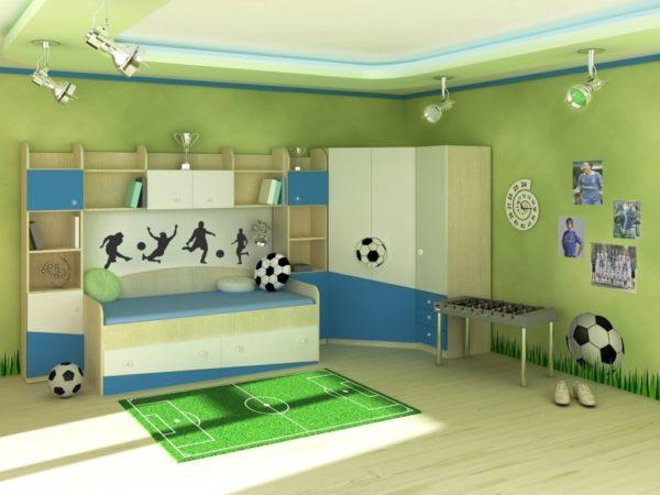 необычное оформление детской спальни