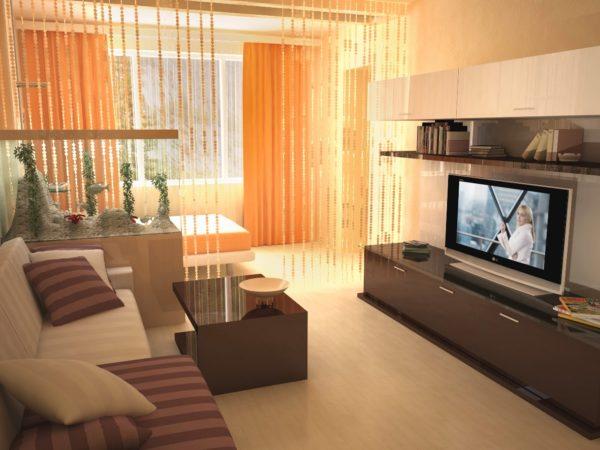 фото оформления спальни и гостиной