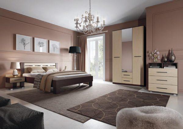 роскошный красивый дизайн мебели в спальне