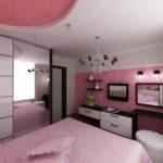 современная светлая спальня