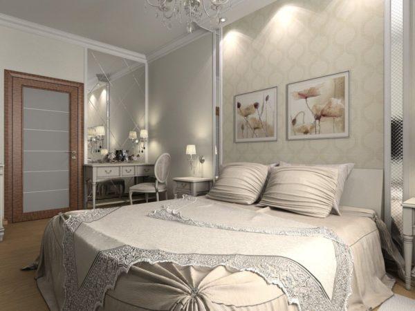 современная светлая спальня 2017