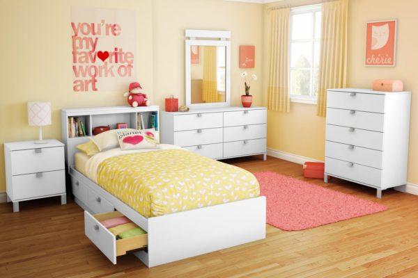 лаконичное оформление детской спальни