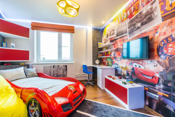 красивый интерьер комнаты детской спальни
