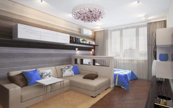 фото красивой спальни и гостиной