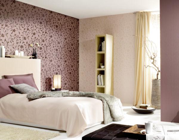 фото красивых обоев в спальню