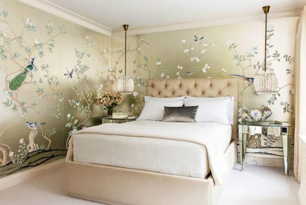фото оригинальных красивых обоев в спальню
