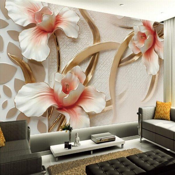 фото впечатляющих 3д обоев с цветами