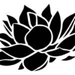 трафарет цветка лотоса