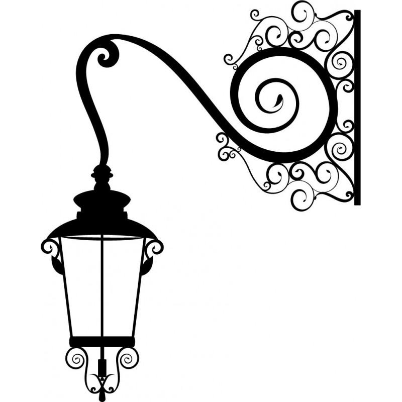 Трафарет фонаря для рисунка на стене